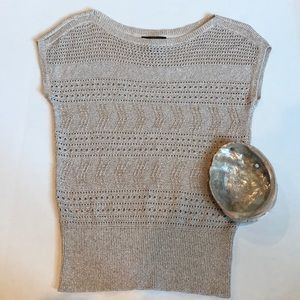 Tops - White House Black market crochet top euc